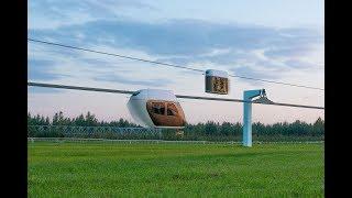 Юнибус SkyWay на провисающей путевой структуре