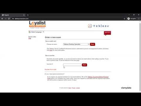 Tableau Specialist Certification Preparation - Book an exam ...