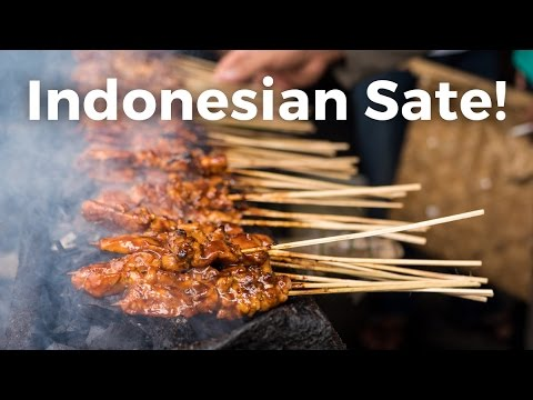 Indonesian Sate (Satay) - AMAZING Indonesian Street Food In Jakarta!