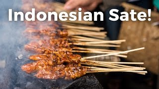 SATAY or SATE Indonesian food Video