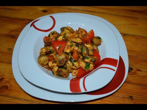 MANTARLI TAVUK SOTE TARİFİ (Chicken And Mushroom Stir Fry)