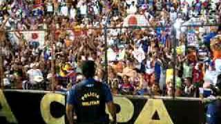 Festa da torcida com jogadores do Bahia em Recife