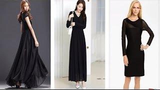 Top 100 Most Beautiful Black Long Sleeve Maxi Dress For Girls