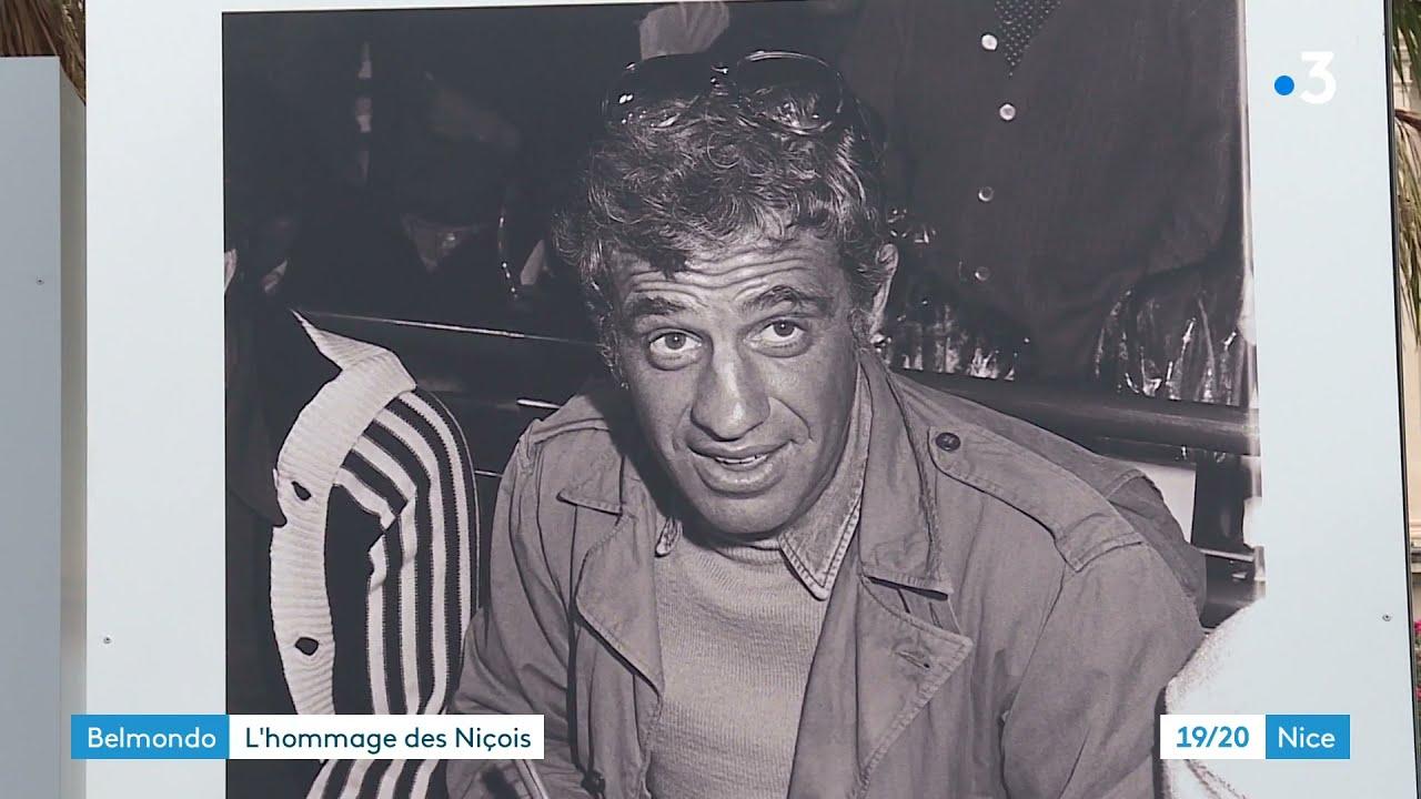 Les Niçois rendent hommage à Jean-Paul Belmondo