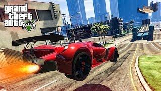 EPIC MODDED CAR STUNT!  - (GTA 5 Mods Funny Moments)
