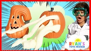 Oozing Pumpkin Elephant Toothpaste Kids Science Experiments!