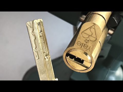 "[509] Yale ""Superior"" (7 Pins, 4 Sliders) Euro Cylinder Picked and Gutted"