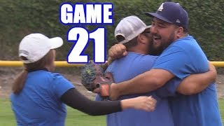 TRIPLE PLAY TO END THE GAME!   On-Season Softball Series   Game 21