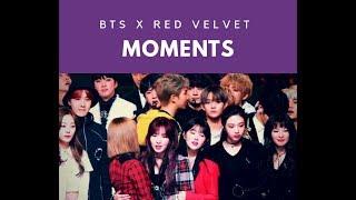 [BTSVELVET] BTS (방탄소년단) & RED VELVET (레드벨벳) moments compilation at Gayo Daejejeon 171231 HD Fancam