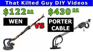 Drywall Sander Review - Porter Cable vs Wen. Will the cheaper one do the job?