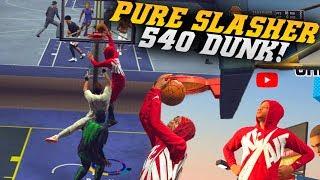 NBA 2K19 Park: Crazy 540 Dunk! YouTube Verification On Xbox Badge! NBA 2K19 MyPark Gameplay