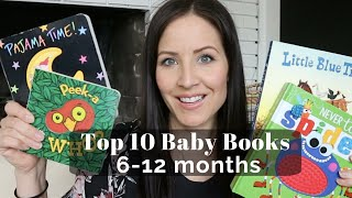 Top 10 Baby Books For 6-12 Months | BABY BOARD BOOKS 📚 | LINDSEYDELIGHT