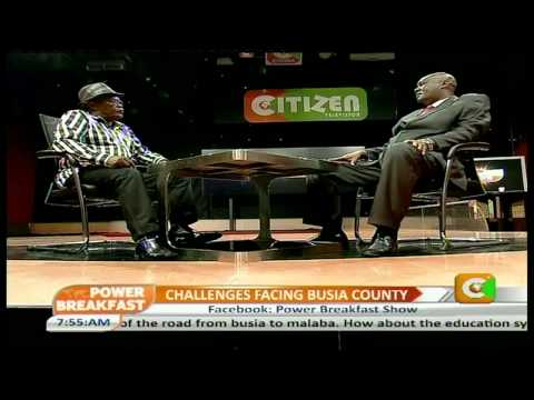 Power Breakfast Interview with Sospeter Ojaamong-Goverrnor, Busia County