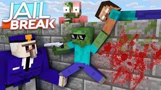 Monster School : Zombie Escape from Prison Jailbreak - Minecraft Animation
