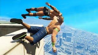 Приколы в GTA 5 | WDF 53 | WWE!