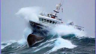 SHIPS IN STORM COMPILATION  -MONSTER WAVES