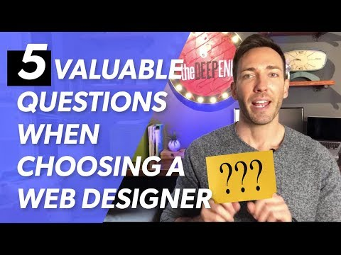 How to Find a Web Designer — 5 Valuable Questions