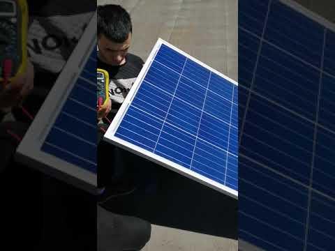Проверка параметров солнечного модуля ЭВ-160-П