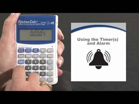 KitchenCalc - Timers and Alarms