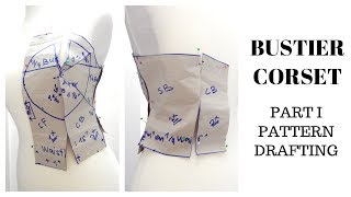 How To Draft Pattern | Bustier/Tube/Corset/Strapless Bodice