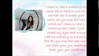 """Wrecking Ball"" by Miley Cyrus, cover by CIMORELLI lyrics"