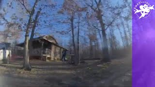 "Cabin in the Woods Scary FPV - 3"" Acro Drone Freestyle HD - Rocky Tree Lined Driveway Secret Winter"
