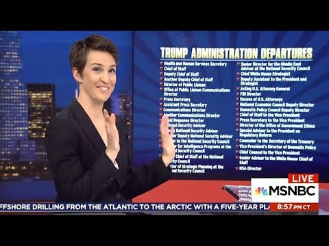 Rachel Hilariously Compares TRUMP Admin 35 Departures To The
