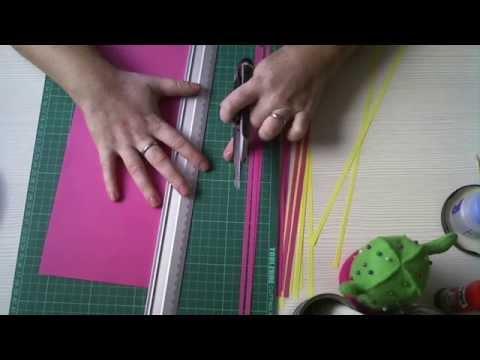 Fazer tiras de papel
