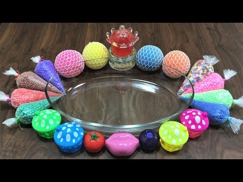 Mixing Stress Balls, Floam and Lip Balm into Store Bought Slime! Satisfying Slime Video !