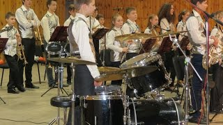 "Sambita, by Jay Chattaway - Orchestra ""Little Band"" and Drummer Daniel Varfolomeyev 12 years"