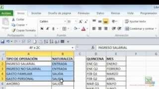 Flujo de Caja Personal en Excel 2010