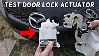 CAR DOOR DOES NOT UNLOCK LOCK WITH REMOTE. HOW TO TEST DOOR LOCK ACTUATOR