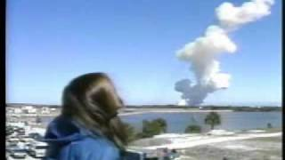 STS-51L - Barbara Morgan Watches the Launch and Explosion of Space Shuttle Challenger