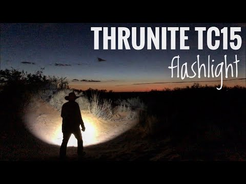 Thrunite TC15 Flashlight Review! Excellent Rechargeable Flashlight! -Junkyard Fox