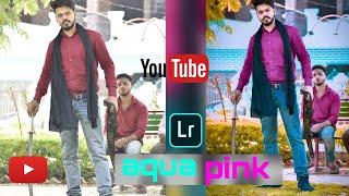 Lightroom Amazing ||aqua Pink||🔥colour Effect Best Background Edit Free || Models Editz||