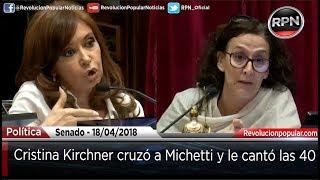 Fuerte cruce entre CFK y Michetti
