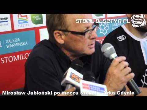 Mirosław Jabłoński po meczu Stomil Olsztyn - Arka Gdynia