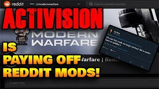 Activision is PAYING OFF REDDIT MODS + Joe Cecot responds to my tweet