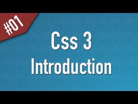 تعلم CSS3 القائمة #1 الفديو #1