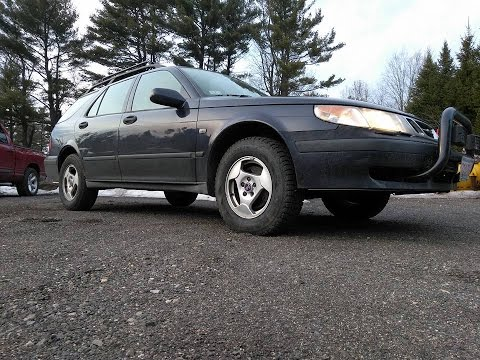 Lifted Saab 9-5 RallyWagon, Little Wheels And Big Tires!