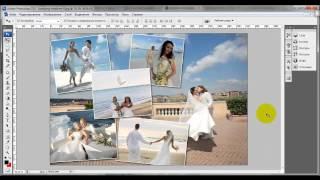 Урок как сделать коллаж фотографии в фотошопе - видео онлайн