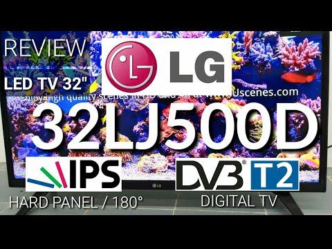 Review LED TV LG 32LJ500D Digital TV New 2017 indonesia | HD