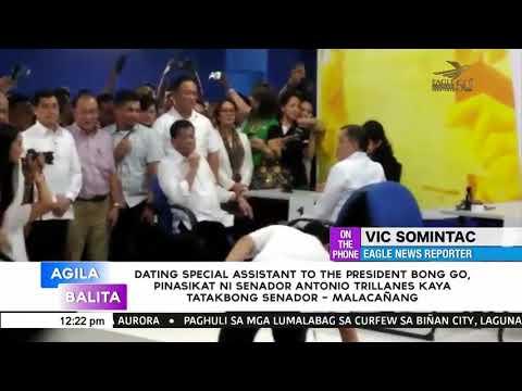 [EagleNewsPH]  Dating SAP Bong Go, pinasikat ni Trillanes kaya tatakbong senador   Malacañang