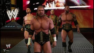 WWE 2K19: EVOLUTION Entrance! Triple H, Batista, Randy Orton & Ric Flair with ALL TITLES!