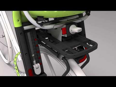 Barnestol bag Yepp sort med beslag til bagagebærer video
