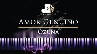 Ozuna   Amor Genuino   Piano Karaoke  Sing Along Cover With Lyrics