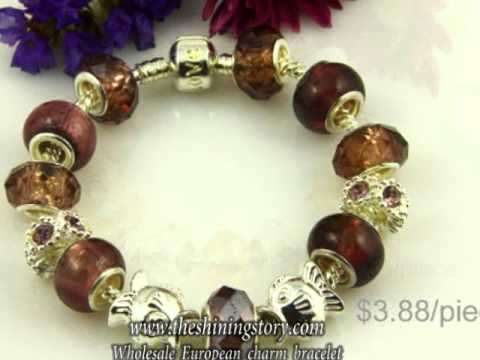 Wholesale Pandora style charm bracelets with big whole beads How to buy wholesale Pandora bracelets