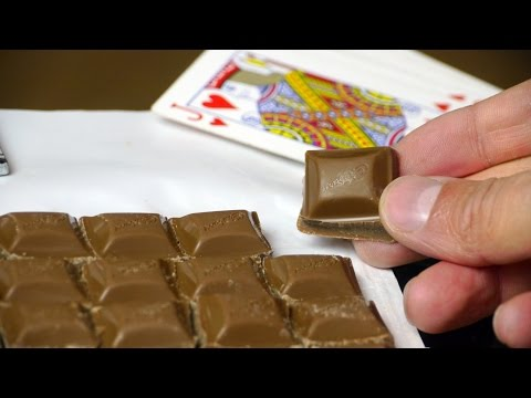 Break Apart A Chocolate Bar Quickly And Evenly With A Rolling Pin