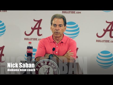 Nick Saban Press Conference - Kent State Week