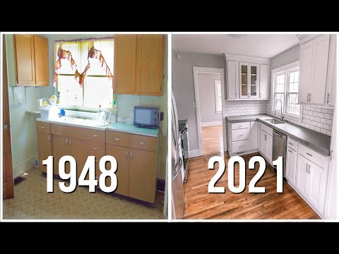 Epic Kitchen Remodel on a Budget!    |  75 YEAR OLD KITCHEN REMODEL!